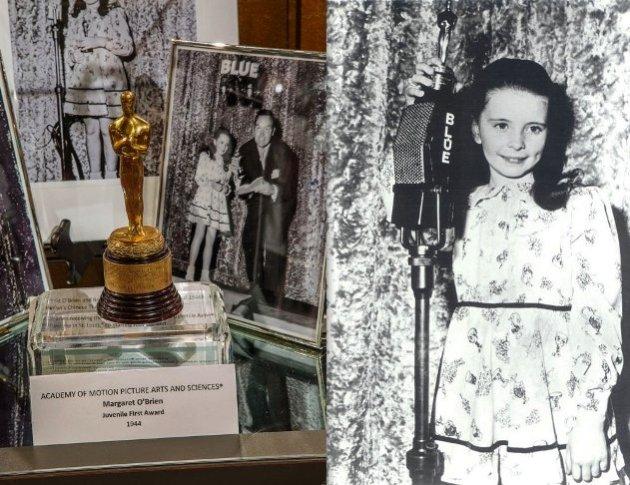 Oscar Winner Margaret O'Brien with memorabilia from her career (Photo Credit - Bill Dow)
