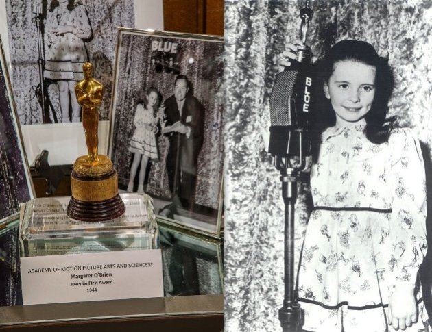 Oscar Winner Margaret O'Brien with memorabilia from her career (Photo Credit - Bill Dow)