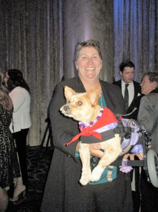Hero dog Mango with Judy Walter (photo by Margie Barron)