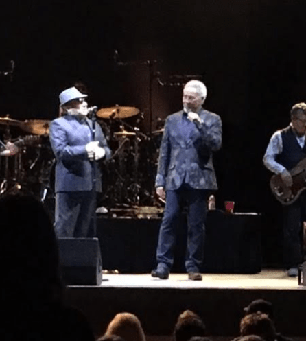 A rare one-off double bill and duet with Van Morrison and Tom Jones - Hollywood Bowl October 2016 (photo by Brad Auerbach)