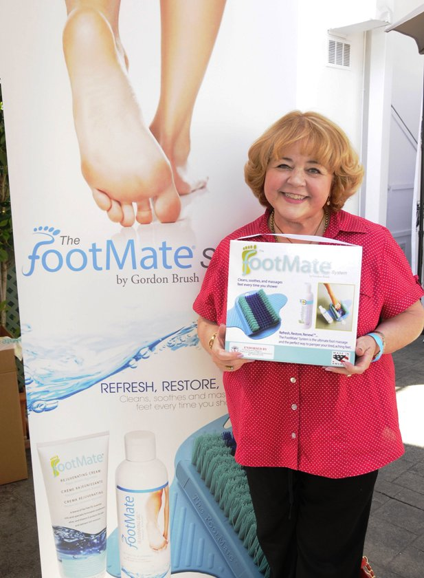 Primetime Emmy Winner - Patrika Darbo with Footmate at Emmy Suite (Photo Credit - Doris Bergman)