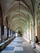 The cloisters of Westminster Abbey, London