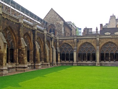 The cloister lawn of Westminster Abbey, London
