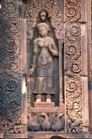 Celestial maiden from Banteay Srei temple, Angkor, Cambodia.