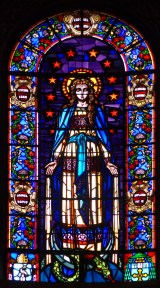 Lady Madonna window from the church of Notre Dame de la Daurade, Toulouse, France.