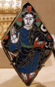 This gilded enamel plaque is only a few inches tall, but is close to a thousand years old.
