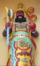I wish I knew who this splendid fellow is, and what he represents. He was one of several such icons at this Cao Dai temple