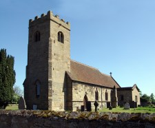 St James' Swarkestone, Derbyshire, with its 'embattled' medieval bell tower