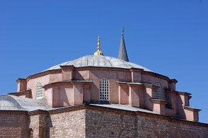 Exterior of the small Byzantine church of Kucukayasofya, built in the 6th Century