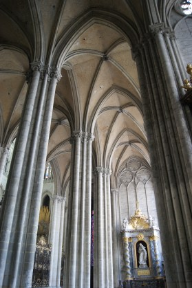 The outer north aisle of Amiens Cathedral