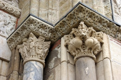 These column capitals are very Byzantine in style, much more imaginative in imagery, and each one different.