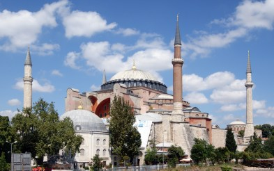 The mighty former Christian church, former Islamic mosque, and now museum known as Holy Wisdom (in English), Hagia Sophia (in Greek), or Ayasofya (in Turkish).