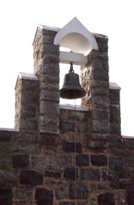 The presbytery and bell tower of the St Columban's, Cudal, NSW