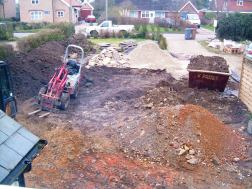 Construction work underway March 2011