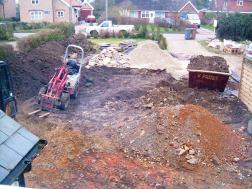Construction work underway March 2011