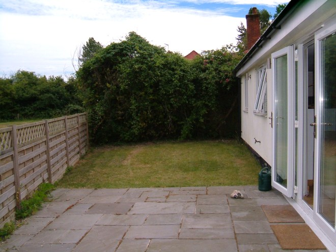 The back garden in 2011