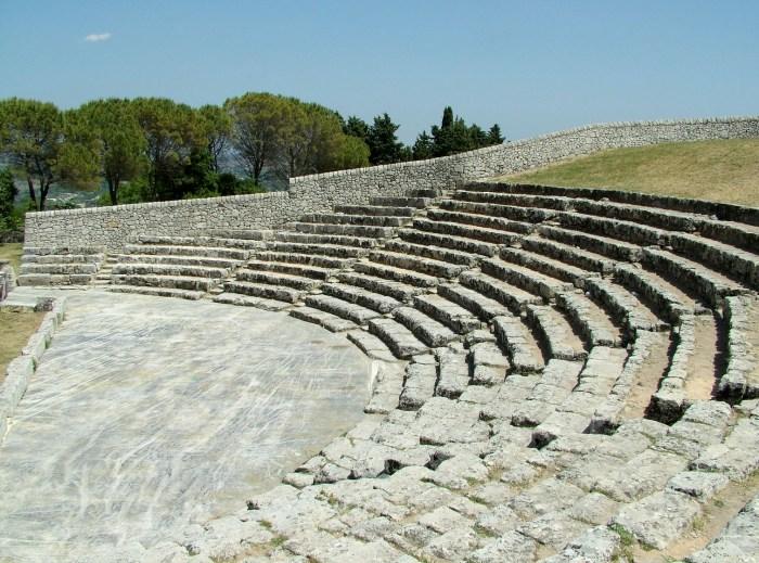 Greek Theatre, Akrai, Sicily (Wikipedia)