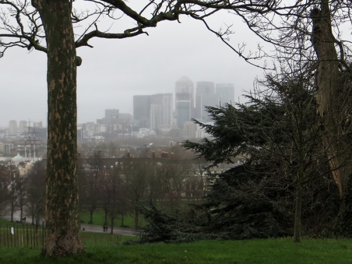 Canary Wharf in the mist