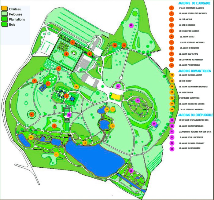 Plan of the Gardens (http://www.parcs-et-jardins.net/plan.html)