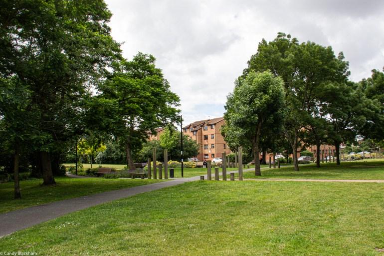 In Margaret McMillan Park