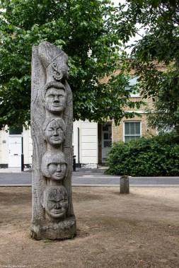 The Totem Poles alongside Angus Street