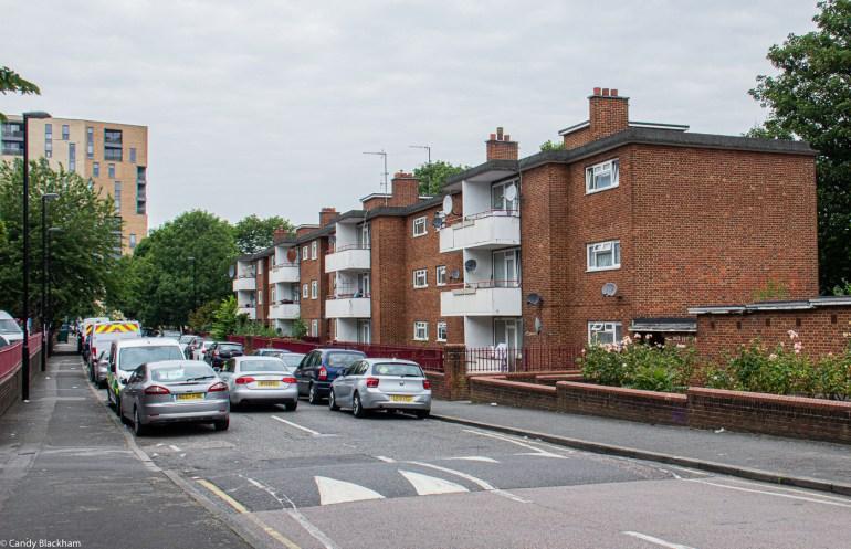 1950s housing in Achilles Street, behind Fordham Park