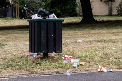 Inadequate rubbish bin in Friendly Gardens