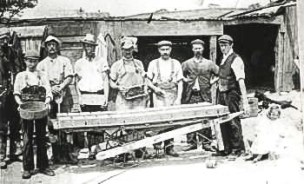 Brickmaking, Blythe Hill Fields, c.1890 (ideal-homes.org.uk-lewisham)