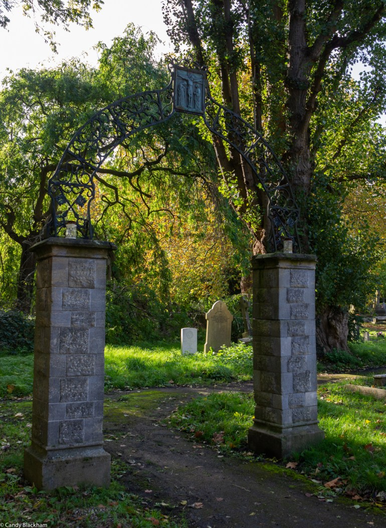 Remains of the gates into the RC cemetery in Brockley Cemetery in SE London