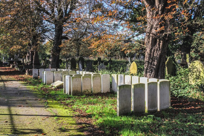 War Graves in Ladywell Cemetery in Lewisham