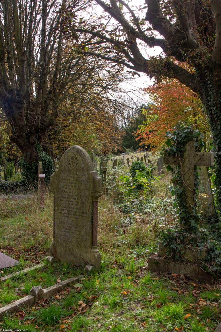 A quiet corner in Ladywell Cemetery in Lewisham