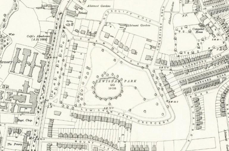 OS Map of Lewisham, published 1897