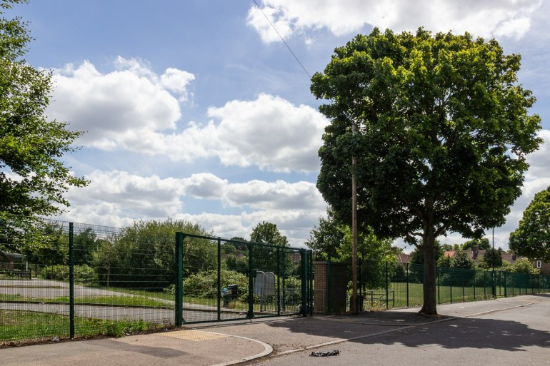Glenbow Road entrance to Downham Playing Fields
