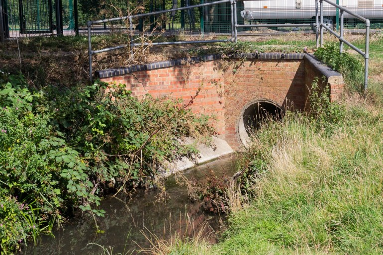 The culvert under Valeswood Road