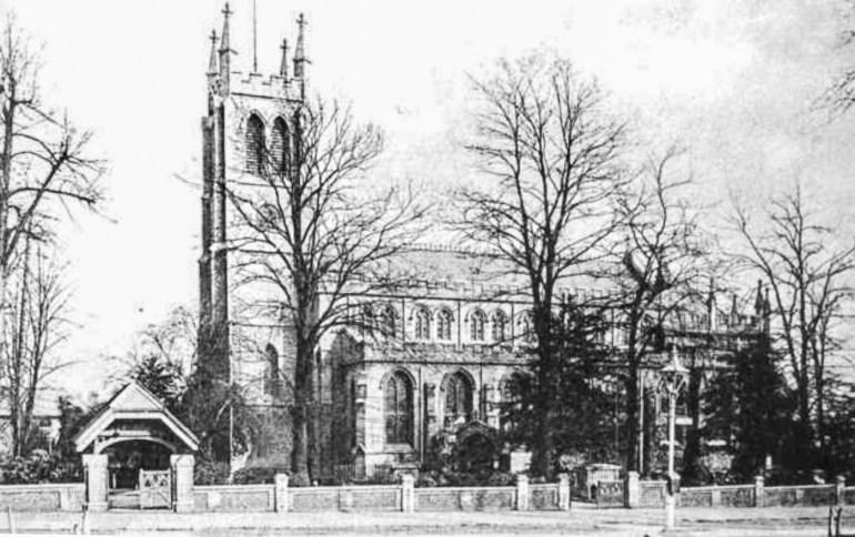 St Bartholomew's Church in 1895