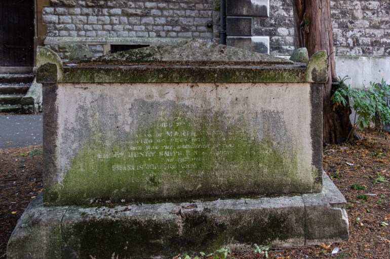John Edward Gray's tomb in St Mary's in Lewisham