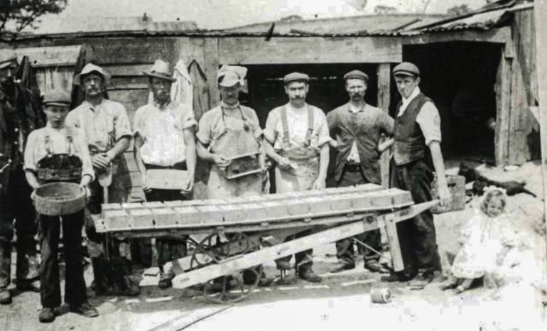 Brick making in Blythe Hill Fields, c.1890