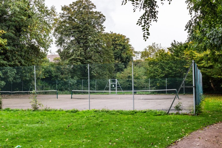 Tennis courts in the South Field in Ladywell Fields