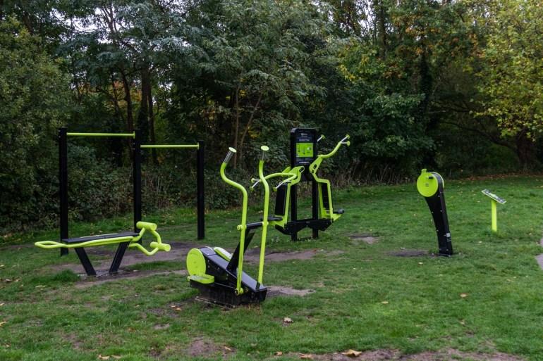 South Field in Ladywell Fields outdoor gym gear