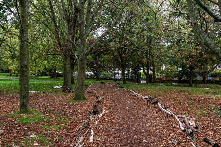 Path in Ravensbourne Park in SE London