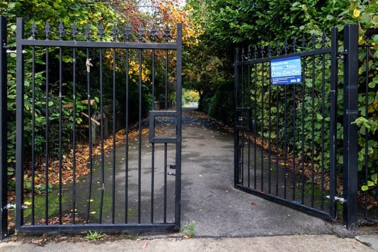 Entrance into Southend Park in SE London