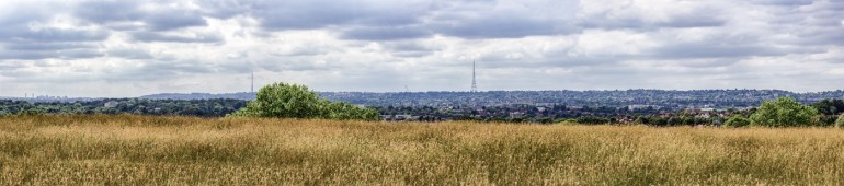 Panorama in Downham in South East London