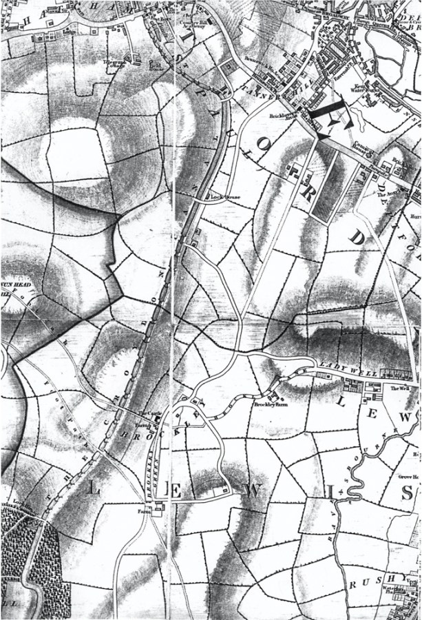 Map of Brockley, 1833