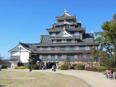 Better view of Okayama Castle
