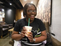 At Starbucks with my other friend