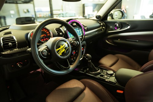 small resolution of mini s strategy is to move the clubman upmarket details like a clubman exclusive illuminated welcome mat standard mini connected infotainment with