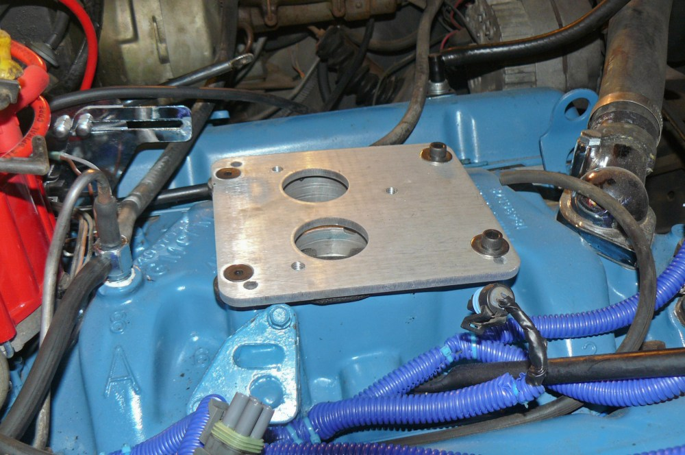 medium resolution of an adapter plate is required to mount the two barrel type throttle body injection unit to the four barrel manifold and that s a requirement whether you re