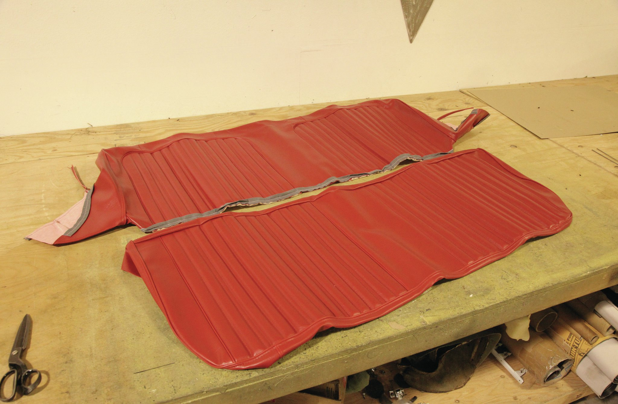 recovering chair cushions vinyl cast iron outdoor chairs a 3967 3968 chevrolet c10 bench seat hot rod