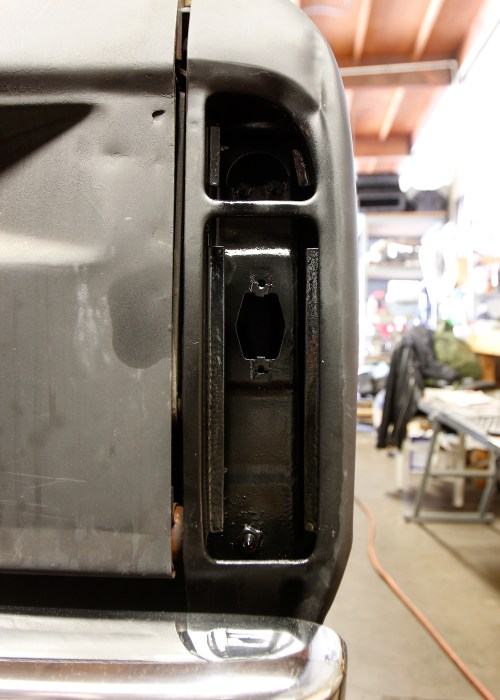 small resolution of while the wiring was out we took the opportunity to clean some of the grime behind the rear lights and treated the area with eastwood s rust encapsulator