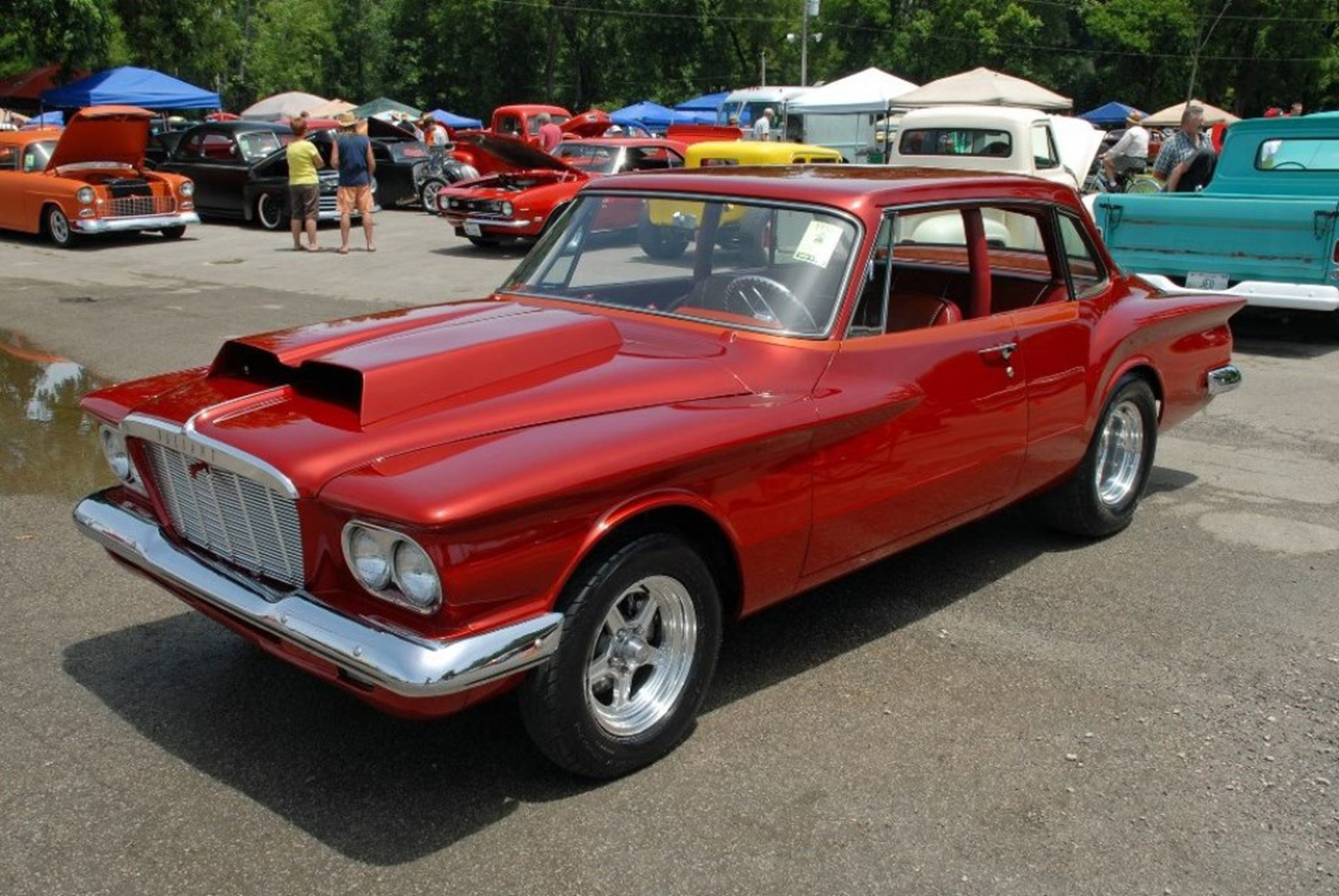 hight resolution of the lowes created an unlikely muscle car in the form of this ferocious little valiant the pro stock hood scoop signifies something potent underneath